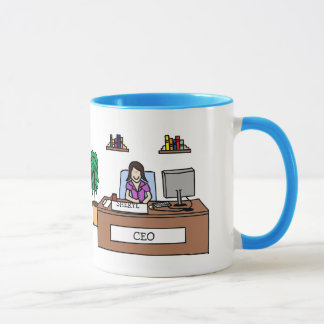 """CEO"" personalized cartoon mug"