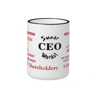 CEO Swear Words! Funny Rude CEO Joke Ringer Mug