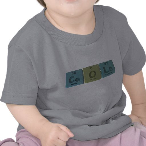 Ceola as Cerium Oxygen Lanthanum Tshirt