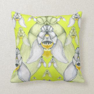 Cephalanthera longifolia throw pillows