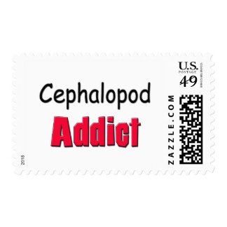 Cephalopod Addict Postage Stamp