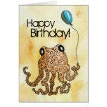 Cephalopod Birthday Greeting Card