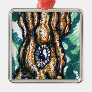 Cephalopod Oceanus Metal Ornament