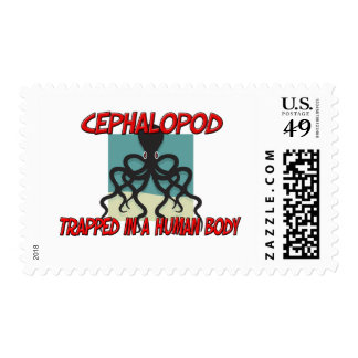Cephalopod trapped in a human body postage