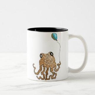 Cephalopod with Balloon Two-Tone Coffee Mug