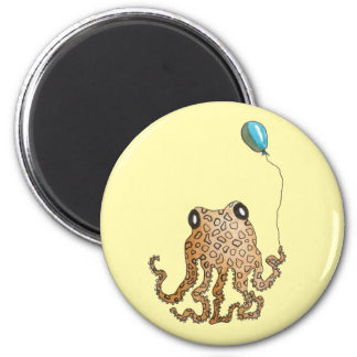 Cephalopod with Balloon (yellow) Magnet