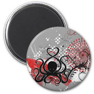 Cephalove Black Fab 2 Inch Round Magnet