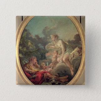 Cephalus and Aurora, 1764 (oil on canvas) Pinback Button