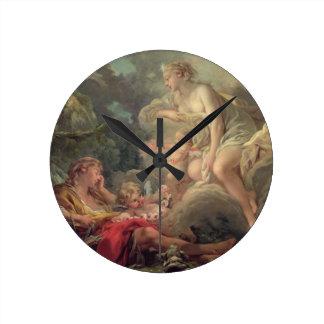 Cephalus and Aurora, 1764 (oil on canvas) Round Clock