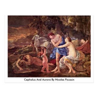 Cephalus y aurora de Nicolás Poussin Tarjeta Postal
