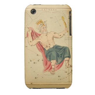 Cepheus the King - Vintage Astronomical Star Chart iPhone 3 Cover