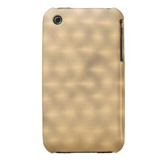 Cepillado Metal-como - fondo del oro Case-Mate iPhone 3 Fundas