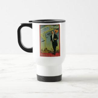 Cepille al gran mago del vintage taza de viaje de acero inoxidable