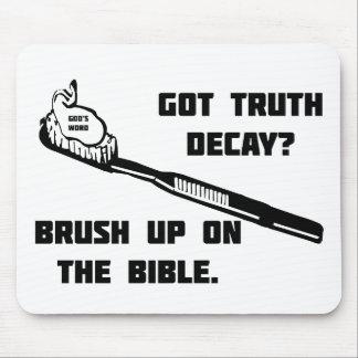 Cepille para arriba en la biblia tapete de raton