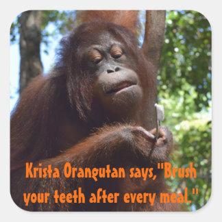 Cepille su humor del dentista de los dientes