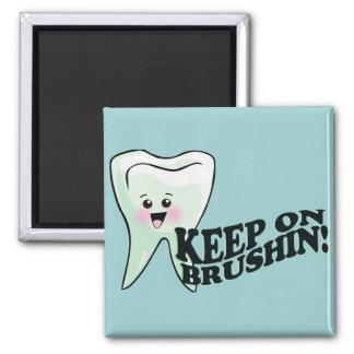 ¡Cepille sus dientes! Imán Cuadrado