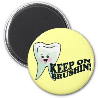¡Cepille sus dientes! Imán Redondo 5 Cm