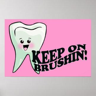 ¡Cepille sus dientes! Poster