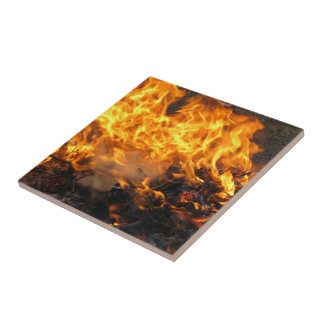 Cepillo ardiente azulejo cuadrado pequeño