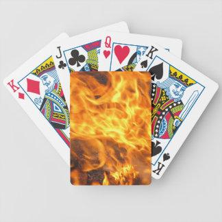 Cepillo ardiente baraja de cartas bicycle