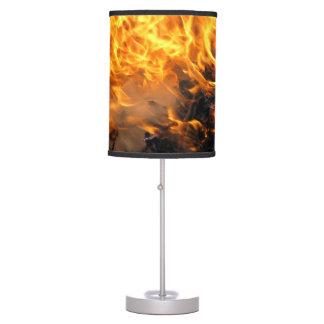 Cepillo ardiente lámpara de mesilla de noche