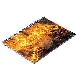 Cepillo ardiente libros de apuntes con espiral