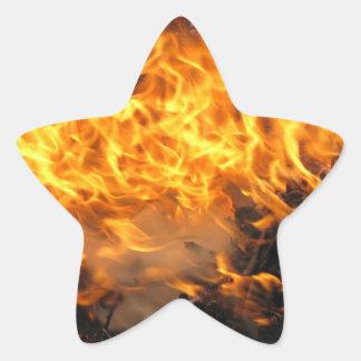 Cepillo ardiente pegatina en forma de estrella