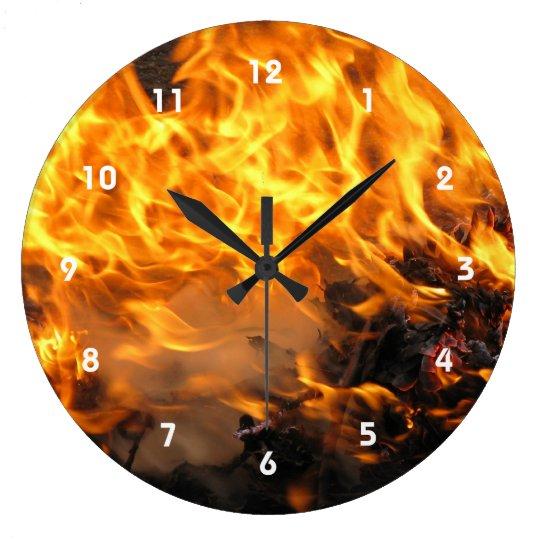 Cepillo ardiente reloj redondo grande