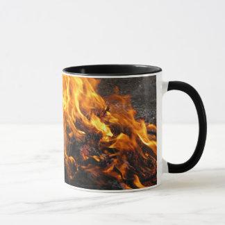 Cepillo ardiente taza