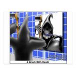 Cepillo con los regalos divertidos del dibujo anim tarjetas postales