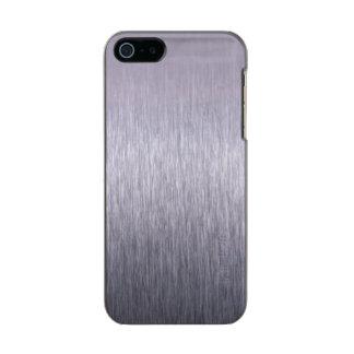 Cepillo de acero carcasa de iphone 5 incipio feather shine