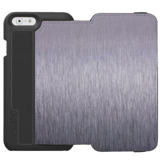 Cepillo de acero funda billetera para iPhone 6 watson
