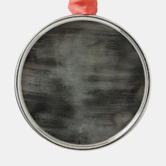 Cepillo de cristal sucio de las rayas del vintage adorno navideño redondo de metal