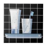 Cepillo de dientes azulejo cerámica