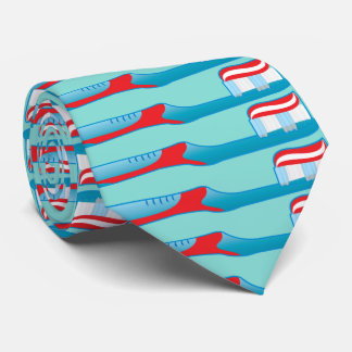Cepillo de dientes del higienista del ayudante de corbata