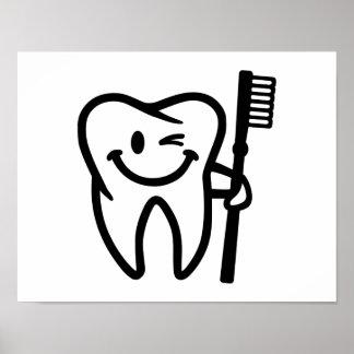 Cepillo de dientes feliz del diente impresiones