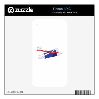 Cepillo de dientes y goma skin para el iPhone 4