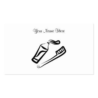 Cepillo de dientes y goma, su nombre aquí tarjetas de visita