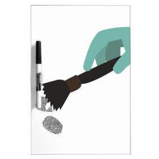 Cepillo de la huella dactilar tableros blancos