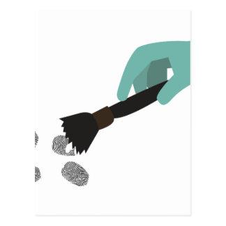 Cepillo de la huella dactilar tarjetas postales