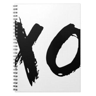 Cepillo de XO mínimo Libro De Apuntes Con Espiral