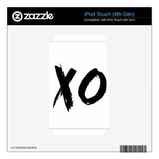 Cepillo de XO mínimo Skins Para iPod Touch 4G