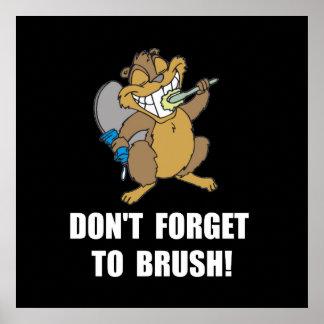 Cepillo del castor póster