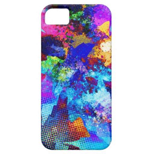Cepillo del pintor, puntos de los colores, St iPhone 5 Fundas