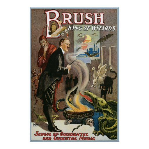 Cepillo del vintage, rey de los magos 1915 póster