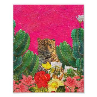 Cepillo floral del aceite del tigre rosado fotografía