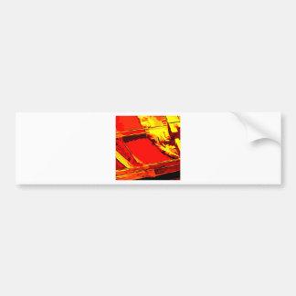 Cepillo rojo etiqueta de parachoque