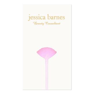 Cepillo rosado del maquillaje, artista de tarjetas de visita