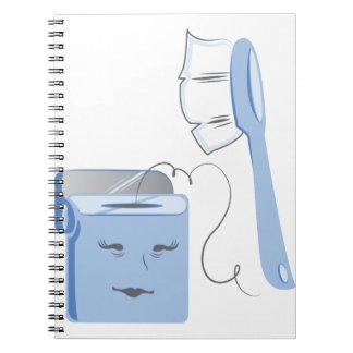 Cepillo y seda spiral notebooks