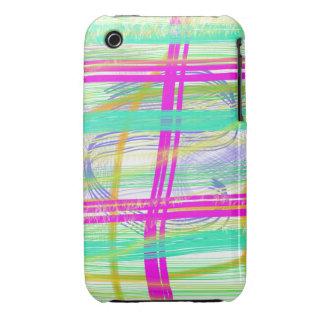 Cepillos coloridos del extracto Case-Mate iPhone 3 cárcasas